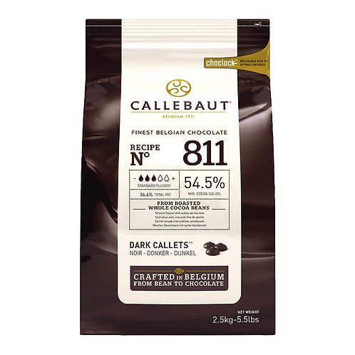 Callebaut Dark Callets 54.5% Chocolate 2.5 kg
