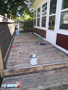 Before Round Lake Deck Honeybear Paintin