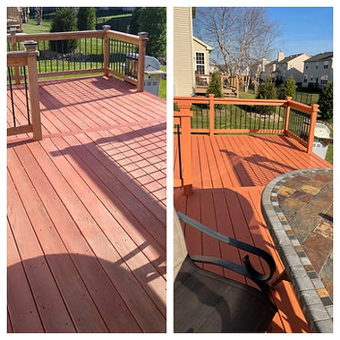 Honeybear Painting deck staining Volo Il