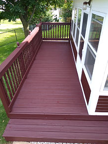 After Round Lake Deck Honeybear Painting