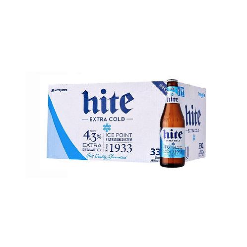 HITE BEER Bottle of 24 x 330ml