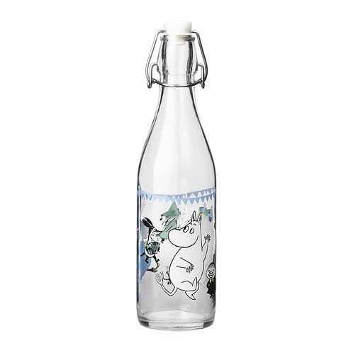 Moomin- стеклянная бутылка спробкой 0,5 л. - Летняя вечеринка