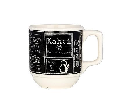 """Кружка """"Кофе"""" 0,2 л. Черная"""