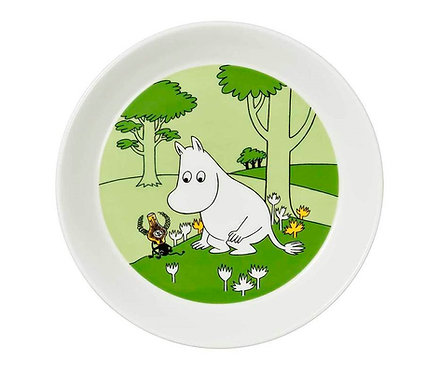 Moomin Тарелка Муми-тролль 19 см. зеленая