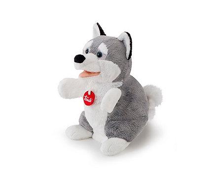 Мягкая игрушка игрушка на руку Trudi Собачка Хаски, 25см