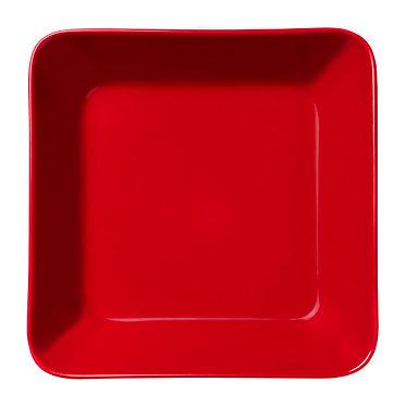 Teema  Блюдо квадрат 16 х 16 см красное