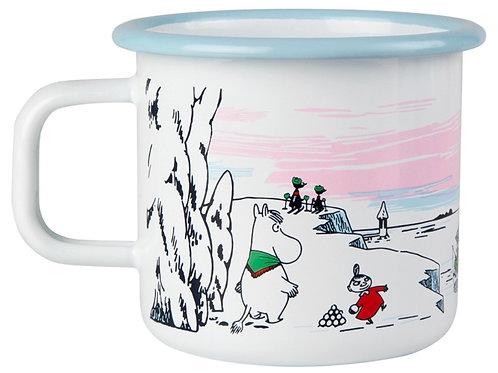 """Moomin Кружка эмалированная ЗИМА, """"Moomin Winter"""", 370 мл."""