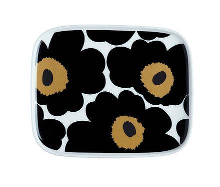 Тарелка прямоугольная Marimekko Unikko Black (Черные Маки)