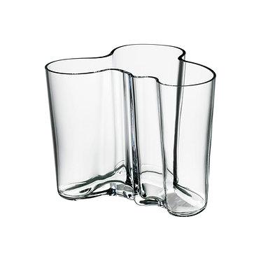 Ваза Коллекция Alvar Aalto160мм, прозрачное стекло