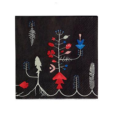 Бумажные салфетки 33x33 см Varpu черные