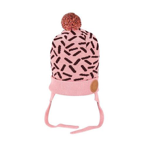 Moomin Вязаная шапка Муми-троллей розовая