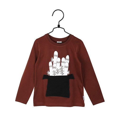 Moomin-рубашка Шляпа Муми-папы, бордовая
