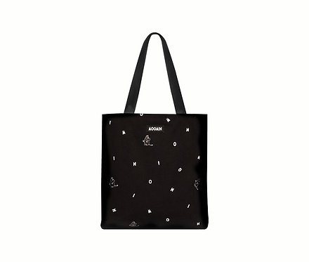 Стильная Муми сумка с Муми-Троллями (tote bag - Black icon)
