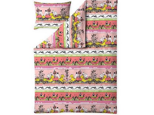 Комплект постельного белья Moomin Tropical, кораловый