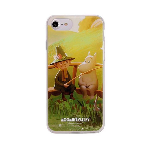 Moomin Мягкий чехол Муми-тролль и Снусмумрик для iPhone 6 / 6S / 7/8