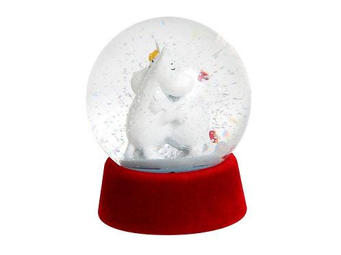 MOOMIN Любовь Снежный шар Муми-Тролль и Фрекен Снорк, нежные объятия.