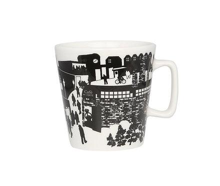 Кружка Café 1902, 0,3 л. Черно/Белая