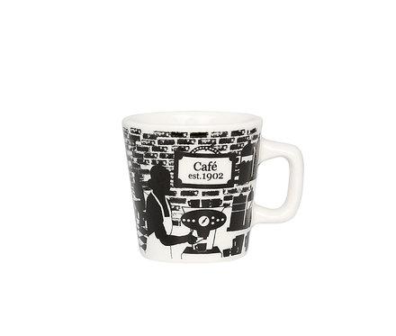 Чашка для эспрессо Café 1902, 0,08 л. Черно/Белый