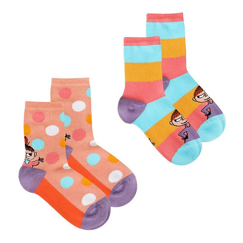Moomin носки Малышка Мю coral, 2 пары