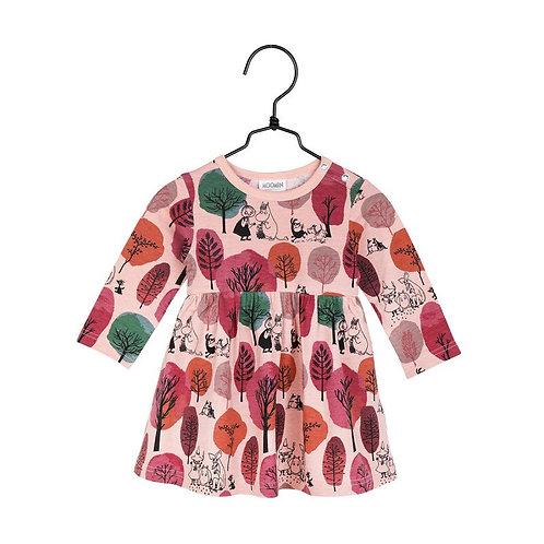 Moomin Боди Осенний сад, розовое