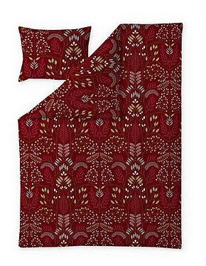 Комплект постельного белья  красный / золото, Pistokas, 150 x 210 см.