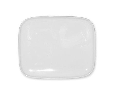 Тарелка прямоугольная Marimekko Oiva, Белая