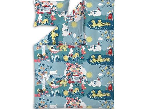 Комплект постельного белья Джунгли, светло-голубой,Finlayson