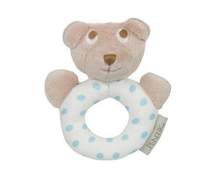 Погремушка Мишка Teddy голубой