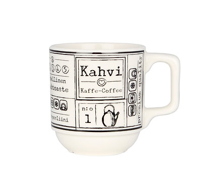 """Кружка """"Кофе"""" 0,2 л. Белая"""