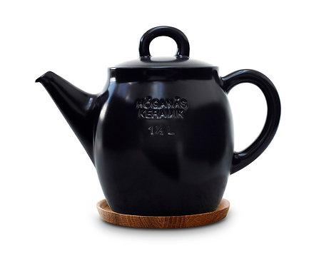 Чайник Черный 1 ½ L с деревянной подставкой!