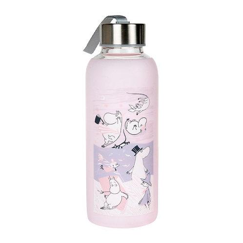 Moomin бутылка для питья Шторм Розовая