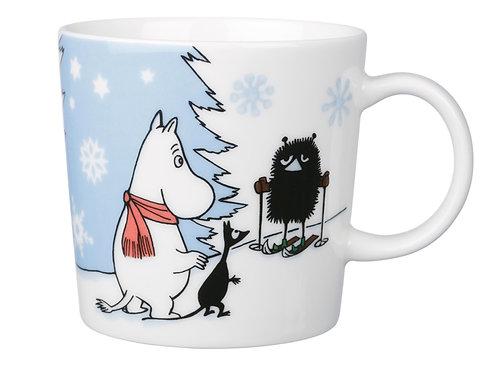 """Коллекционная сезонная Moomin кружка """"Катание на лыжах"""", 0,3 л."""