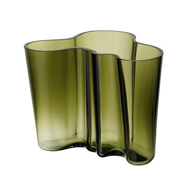 Ваза Коллекция Alvar Aalto 160 мм,зеленый мох
