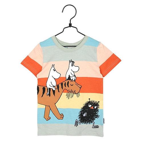 Moomin Футболка разноцветная Муми-тролли и тигр