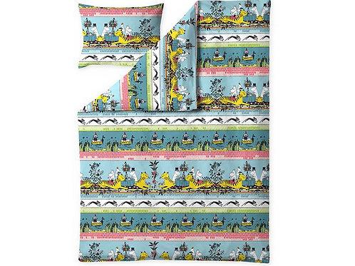Комплект постельного белья Moomin Tropical, бирюзовый