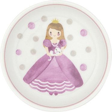 Тарелка Принцесса, 18 см. розовая