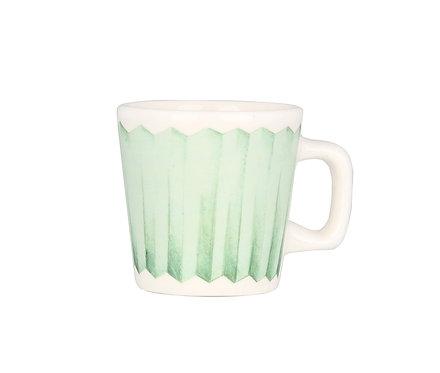 Чашка для эспрессо Пом Пом, зеленая.