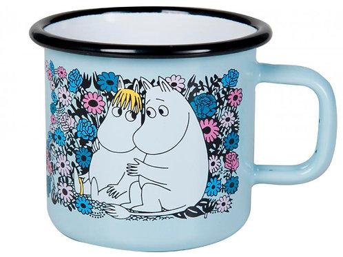 Moomin Кружка эмалированная Moomin Retro, ЛЮБОВЬ, 370 мл.