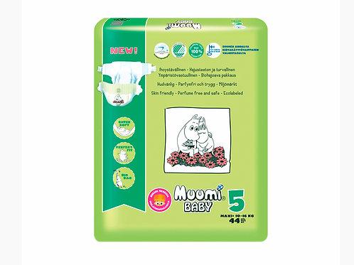Muumi 5, Муми-Подгузники для детей Maxi+, 10-16 кг., 44 шт.