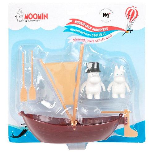 Лодка Муми-папы с парусом. 2 персонажей в комплекте.