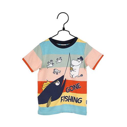 Moomin Футболка Gone Fishing разноцветная