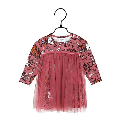 MOOMIN платье Ягода мальва, лилового цвета