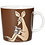 Thumbnail: КРУЖКА ARABIA MOOMIN Снифф коричневая(2002-2008)