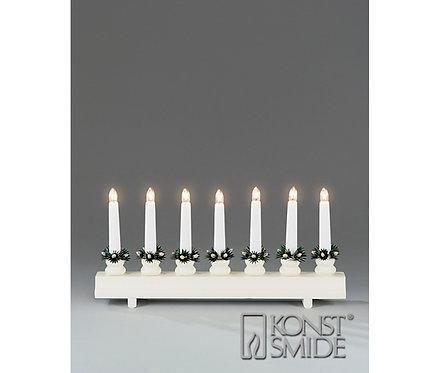 Konstsmide 7-свечей подсвечник, прямой