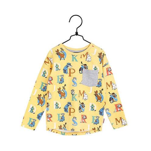 Moomin Рубашка Alphabet желтая