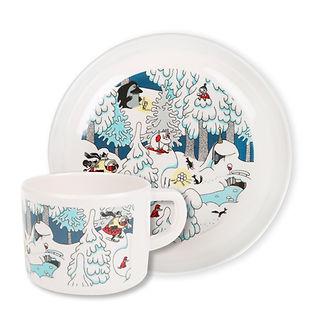 посуда муми-тролли, набор детской посуды, посуда из пластика для детей, финская посуда, посуда из финляндии
