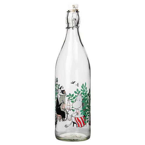Moomin- стеклянная бутылка спробкой 1л. - Летняя вечеринка