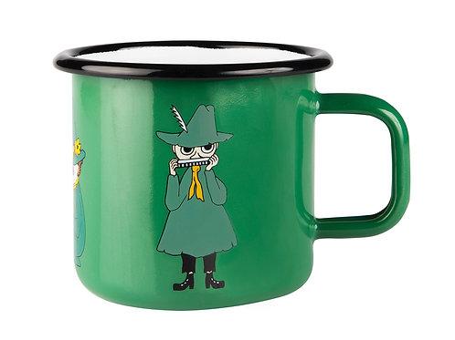 Муми-кружка Снусмумрик зеленая ретро