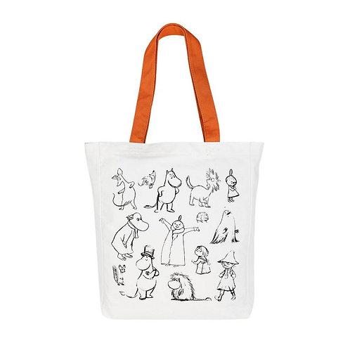 MOOMIN Хлопчатобумажная сумка Друзья
