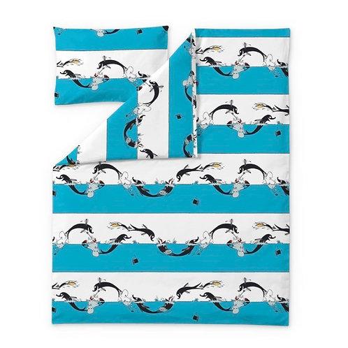 Детский комплект постельного белья Finlayson Муми-Тролль и дельфины